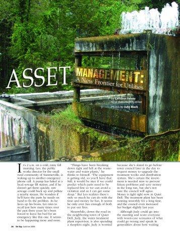 Asset Management - National Environmental Services Center