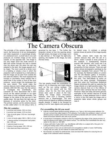 The Camera Obscura - AstroMedia