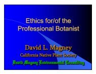 Ethics for/of the Professional Botanist Ethics for/of the Professional ...