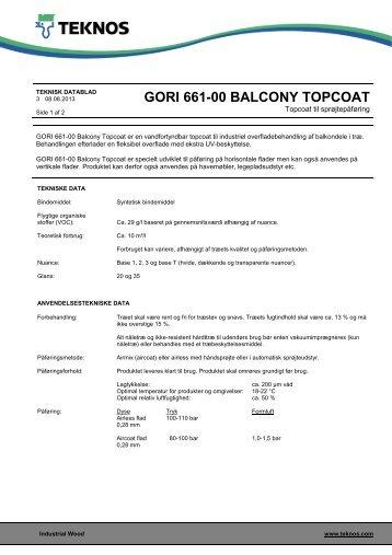 gori 661-00 balcony topcoat - Teknos