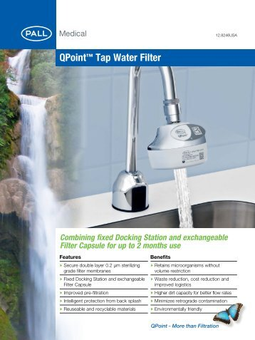 QPoint™ Tap Water Filter 12.8246USA Comb... - Pall Corporation