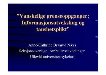 (Microsoft PowerPoint - N\346ss informasjonsutveksling og ...