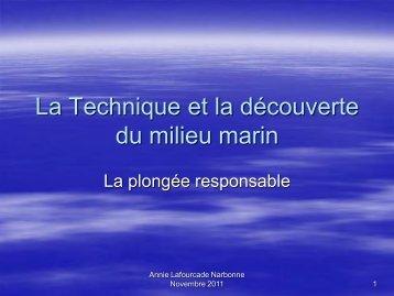 La technique et la découverte du milieu marin
