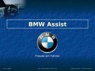 Referat: BMW Assist - Daniel