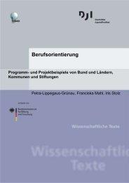 Berufsorientierung - Programm - Deutsches Jugendinstitut e.V.