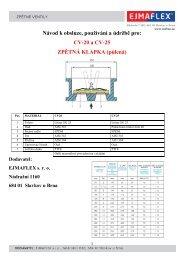 Návod k obsluze, používání a údržbě pro: CV-20 a ... - EJMAFLEX sro