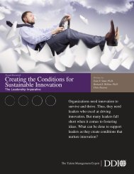 Creating the Conditions for Sustainable Innovation: The ... - DDI