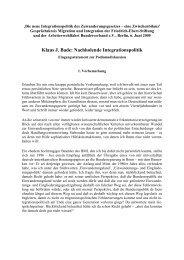 Nachholende Integrationspolitik - Klaus J. Bade