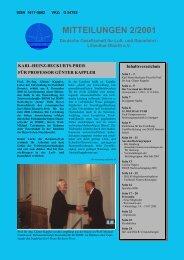 MITTEILUNGEN 2/2001 - Deutsche Gesellschaft für Luft
