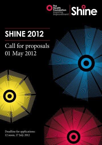 SHINE 2012 - Health Foundation