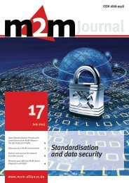 Standardisation and data security - M2M Alliance