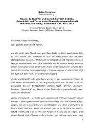 Naika Foroutan, Buchvorstellung: Klaus J. Bade, Kritik und Gewalt ...
