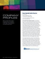 View last year's company profiles - Fabric Graphics