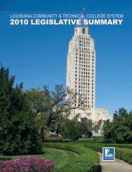2010 legislative summary - Louisiana Community and Technical ...