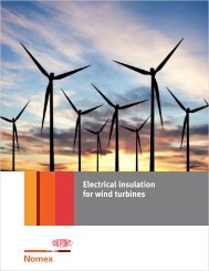 Electrical insulation for wind turbines - DuPont