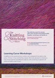 Learning Curve Workshops - Knitting Stitching show