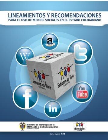 Lineamientos y recomendaciones para el uso de Medios sociales ...