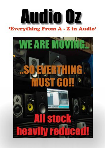 WE ARE MOVING.. ..SO EVERTHING MUST GO!! All ... - Audio Oz