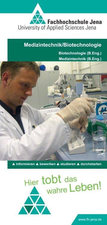 Flyer Fachbereich Medizintechnik und Biotechnologie