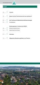 Flyer Fachbereich Medizintechnik und Biotechnologie - Seite 3