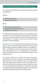 Flyer Fachbereich Medizintechnik und Biotechnologie - Seite 6
