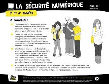 La sécurité numérique (5e et 6e années) - The Door That's Not Locked