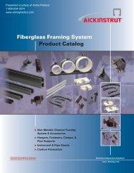 Fiberglass Framing System Product Catalog - Aetna Plastics Corp.