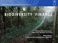 BIODIVERSITY FINANCE - NRE