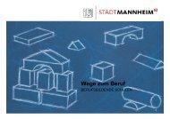 Berufsschulentwicklung, Berufsschulkonzeption - Stadt Mannheim