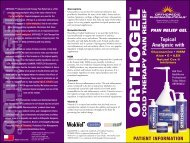 Orthogel Trifold 7 - Safe Home Products