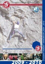 student-parent handbook 2009 - International School of Duesseldorf