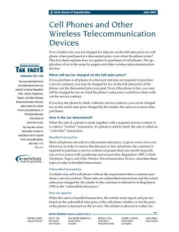 Cell Phones and Other Wireless Telecommunication Devices