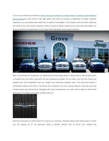 Grove Dodge Jeep Chrysler Ram
