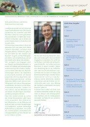 Life Forestry Newsletter - Oktober 2009