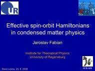 Effective spin Hamiltonians in condensed-matter physics