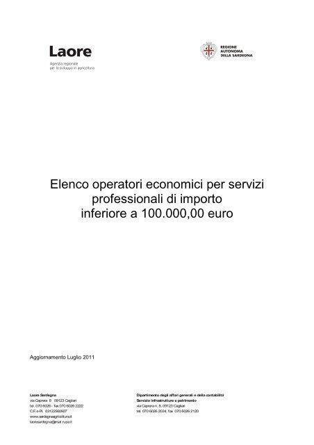Elenco operatori economici aggiornato a luglio 2011 [file.pdf]