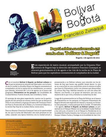 con la obra 'Bolívar & Bogotá' - Orquesta Filarmónica de Bogotá