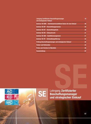 Zertifizierter Beschaffungsmanager und ... - Automobil Cluster