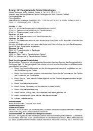 Evang. Kirchengemeinde Ostdorf-Geislingen - Evangelische ...