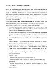 Maschinenrichtlinie 2006/42/EG - ZLS