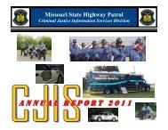2011 CJIS Annual Report - State Highway Patrol