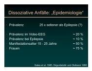 "Dissoziative Anfälle: ""Epidemiologie"""