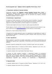 Pravila nagradne igre - Telemach