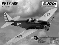 PT-19 ARF Assembly Manual - E-flite