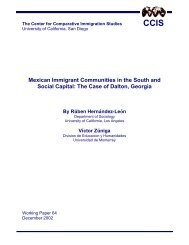 Working Paper #64 - Center for Comparative Immigration Studies