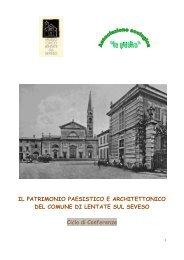Il patrimonio paesistico ed architettonico di Lentate sul ... - la Puska