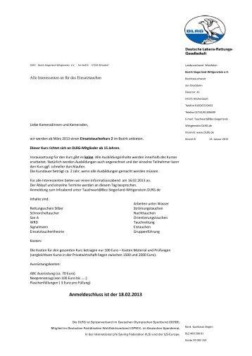 klicken - Ortsgruppe Bad Laasphe - DLRG