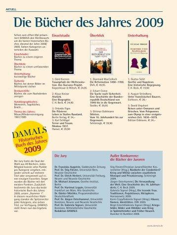 Die Bücher des Jahres 2009 - Damals