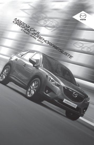 Zubehörprospekt Mazda CX-5 Typ KE - Autohaus Vollmari GmbH