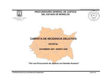 Carpeta Estadistica - Gobierno del Estado de Morelos